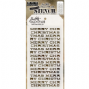 THS098 Stampers Anonymous Tim Holtz Layering Stencil - Merry Christmas